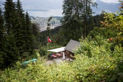 Das Schlimgrüebli mit Aussicht auf die Region Luzern. (Bild: Manuela Jans-Koch, Kriens, 14. Juli 2019)