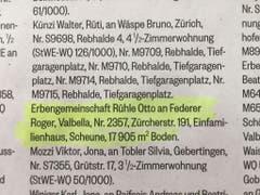 Diese Handänderung publizierte die Stadt Rapperswil-Jona am Freitag in der Linth-Zeitung. (Bild: Keystone-SDA/Silvia Minder)