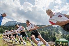 Impressionen von der U19-Schweizer-Meisterschaft im Seilziehen. (Bild: Nadia Schärli, Engelberg, 20. Juli 2019)