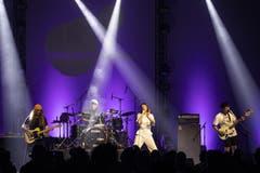 Die britische Band Orchards trat am Samstagabend in Luzern auf. (Bild: KEYSTONE/Alexandra Wey, Luzern, 20. Juli 2019)