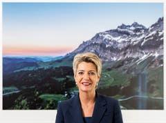 Säntisfan: die Ostschweizer Bundesrätin Karin Keller-Sutter. (Bild: Severin Bigler)