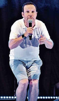 Diese drei Comedians sorgten für Lacher (von links): der Bündner Claudio Zuccolini...