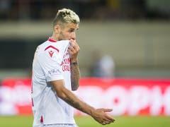 Sions neuer Hoffnungsträger Valon Behrami leistete sich beim 1:4 gegen Basel Schnitzer (Bild: KEYSTONE/JEAN-CHRISTOPHE BOTT)