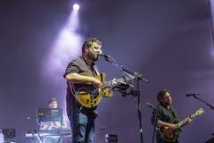 Die britische Indie- und Folkband Bear's Den. (Bild: Urs Flüeler/Keystone, Luzern, 26. Juli 2019)