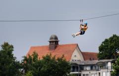 Hoch über Zug. (Bild: Stefan Kaiser, Zug, 27. Juli 2019)