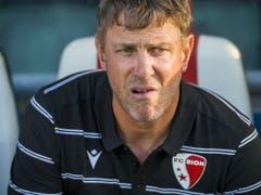 Trainer Stéphane Henchoz soll in Genf Sions zweite Saisonniederlage verhindern (Bild: KEYSTONE/JEAN-CHRISTOPHE BOTT)