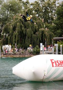 Zug Sports Festival: Entlang der Zuger Seepromenade findet während zwei Tagen das grösste Zuger Sportfestival statt, wo viele Sportarten angeschaut und probiert werden können. (Bild: Stefan Kaiser, Zug, 27. Juli 2019)