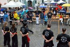 Eine tolle Performance der Kung-Fu-Schüler von Martin Sewer.