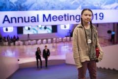 Greta Thunberg am WEF in Davos im Januar 2019. (Bild: GIAN EHRENZELLER)
