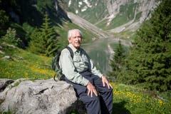 «Es ist ein Genuss, hier zu sein»: Jahrzehntelang war Max Niedermann nicht mehr am Fählensee – umso mehr freut er sich über den Tag in der schönen Alpstein-Welt. (Bilder: Ralph Ribi)