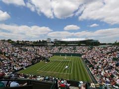 Das Wetter in London zeigte sich auch am dritten Turniertag in Wimbledon von seiner besten Seite (Bild: KEYSTONE/AP/BEN CURTIS)