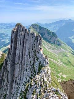 Alpine Bergfahrt im Alpstein. (Bild: Reto Schubnell)
