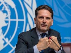 UNWRA-Generalkommissar Pierre Krähenbühl hat die Geberländer über die interne Untersuchung informiert. (Bild: KEYSTONE/MARTIAL TREZZINI)