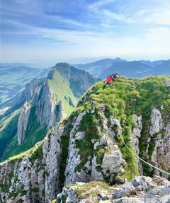 Plätzchen mit Aussicht nähe der Altenalp. (Bild: Reto Schubnell)