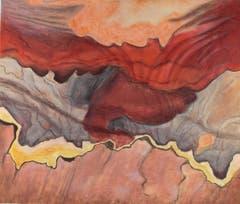«Steinlandschaft» (Öl auf Leinwand, 44x52 cm)