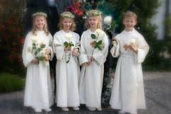 Die Vierlinge feierten gemeinsam Erstkommunion.