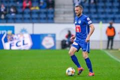 Sein letzter Einsatz für den FC Luzern: Beim 0:0 gegen den FC Zürich wird Christian Schneuwly in der 75. Minute eingewechselt. (Bild: Martin Meienberger, Luzern, 28. Juli 2019)