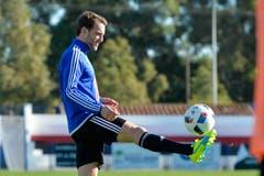 Mitte Januar verpflichtete der FC Luzern Christian Schneuwly, hier im Trainingslager in Marbella. (Bild: Martin Meienberger / Freshfocus)