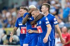 Traf gegen Klaksvik in der Nachspielzeit: Christian Schneuwly. (Bild: Martin Meienberger / Freshfocus, Luzern, 25. Juli 2019)