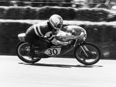 Stefan Dörflinger auf einem Kreidler-Motorrad auf einer undatierten Aufnahme (Bild: KEYSTONE/STR)