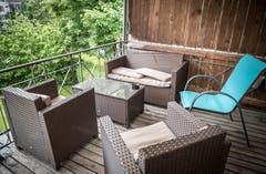 Der Sitzplatz der Wohngemeinschaft Phönix.