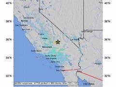Das Zentrum des Bebens der Stärke 6,4 befand sich rund 160 Kilometer nordöstlich von Los Angeles. (Bild: KEYSTONE/EPA USGS/USGS HANDOUT)