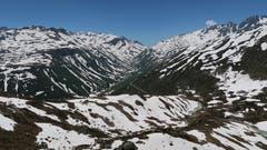 Furkagebiet im Zebralook: Das Foto wurde auf dem Weg zur Alberheim-Hütte oberhalb Tiefenbach gemacht. (Bild: Ernst Bissig, 27. Juni 2019)