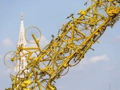 Brüssel hat sich für den Auftakt der 106. Tour de France herausgeputzt (Bild: KEYSTONE/EPA/STEPHANIE LECOCQ)