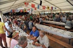 Impressionen vom Innerschweizer Schwingfest in Flüelen. (Bild: Urs Hanhart, Flüelen, 7. Juli 2019)