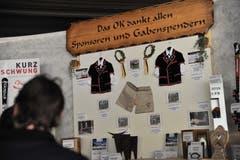 Impressionen vom Innerschweizer Schwingfest in Flüelen: Der Gabentempel. (Bild: Urs Hanhart, Flüelen, 7. Juli 2019)