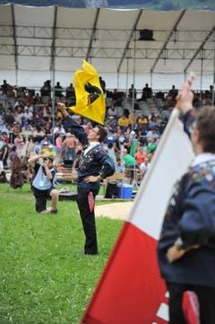 Impressionen vom Innerschweizer Schwingfest in Flüelen: Der Festakt. (Bild: Urs Hanhart, Flüelen, 7. Juli 2019)