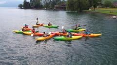 Kanu fahren am Ferienpass Nidwalden. (Bild: Ferienpass Nidwalden, 8. Juli 2019)