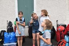Grosse Vorfreude aufs Lager bei (fast) allen Kinder. (Bild: Zigani Fiora, Flüelen)