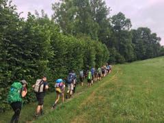 Mit der 2-Tages Wanderung hat das Lager super gestartet. (Bild: Pfadi Meggen)