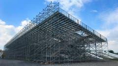 Hier entsteht das ESAF-Stadion. (Bild: Peter Bumbacher, Zug, 8. Juli 2019)