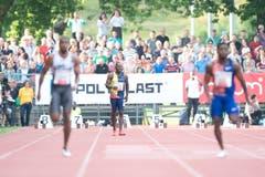 Da hat Alex Wilson (hinten) den Start verpatzt. (Bild: Pius Amrein. Luzern, 9. Juli 2019)