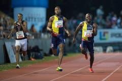 Alex Wilson (rechts) konnte auch beim 200-Meter-Finale nicht überzeugen. (Bild: Pius Amrein. Luzern, 9. Juli 2019)