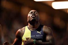 Enttäuschung bei Alex Wilson nach dem 200m Lauf. (Claudio Thoma/freshfocus)