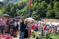 Das Wetter meinte es gut mit den Besuchern, die Sonnenbrillen waren aufgesetzt. (Bild: Nadia Schärli, Rütli, 1. August 2019)