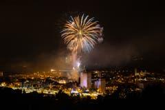 Feuerwerk der Stadt Gossau. (Bild: Marc Bollhalder)