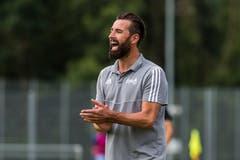 Schötz-Trainer André Grüter. (Bild: Dominik Wunderli, Schötz, 10. August 2019)