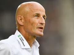 St. Gallens Trainer Peter Zeidler musste zuletzt den Sieg der Berner als verdient anerkennen (Bild: KEYSTONE/GIAN EHRENZELLER)