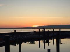 Morgenstimmung am Hafen in Rorschach. (Bild: Werner Büchel)