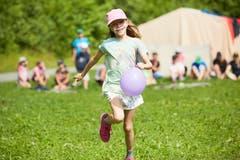 Spiel und Spass im Lager des Blaurings Schüpfheim. Bild: Jakob Ineichen (Giswil, 13. Juli 2019)