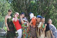 «Die Siegergruppe der Modeshow.» (Bild: Jubla Neuheim, 7. Juli 2019)