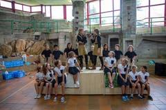 Das Esemble vom Kinder- und Jugendtheater Zug proben fleissig für das Stück «Mathilda». (Bild: Kinder- und Jugendtheater Zug, Lajoux, 13. August 2019)