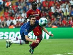 Spektakel in Istanbul: Chelseas Däne Andreas Christensen gegen Liverpools Stürmer Sadio Mané (Bild: KEYSTONE/EPA/SEDAT SUNA)
