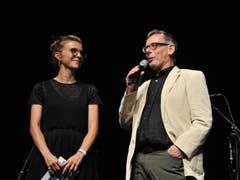 Barbara Kamm, Moderatorin, und Johannes Rühl, küntlerischer Leiter. (Bild: Urs Hanhart)