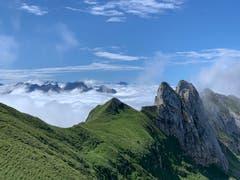 Blick Richtung Thal, Höhe Zwinglipass. (Bild: Marco Graf)
