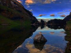 Der Seealpsee am Abend. (Bild: Ruedi Gamper)